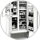 Three-door refrigerator with separate vegetable compartment