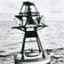 The world's first buoy supplied with a solar cells.